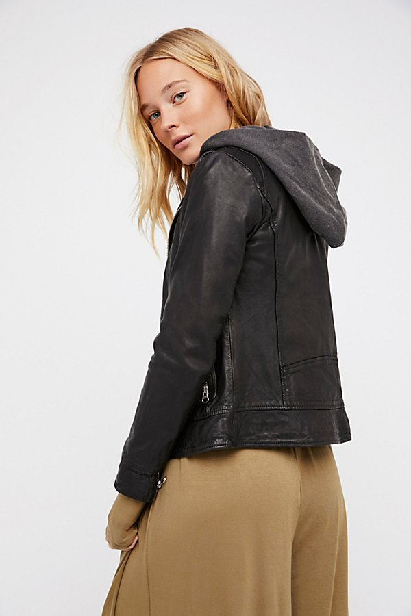 Slide View 3: Clash Leather Jacket