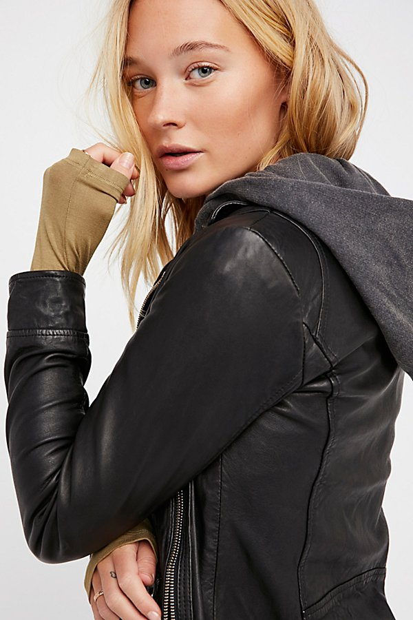 Slide View 5: Clash Leather Jacket