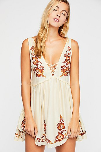 Embroidered Aida Slip