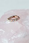 "Thumbnail View 1: 1/4"" Opal x Diamond 5 Row Pave Eternity Hoop"