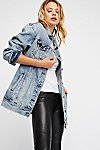 Thumbnail View 1: Long Denim Jacket