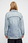 Thumbnail View 3: Long Denim Jacket
