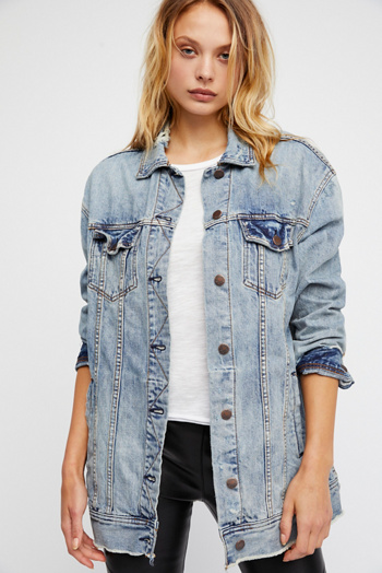Slide View 2: Long Denim Jacket