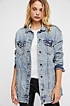 Thumbnail View 2: Long Denim Jacket