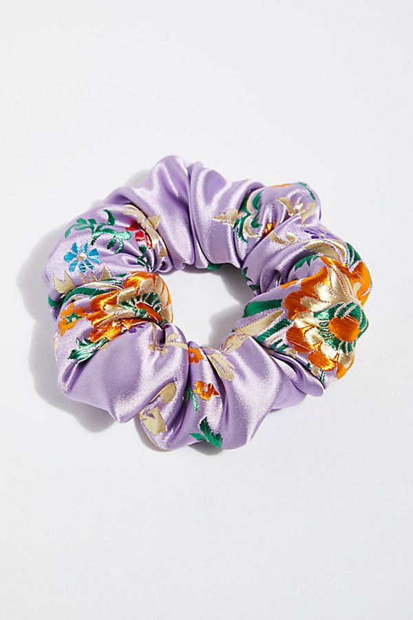 Slide View 1: Silk Brocade Scrunchie