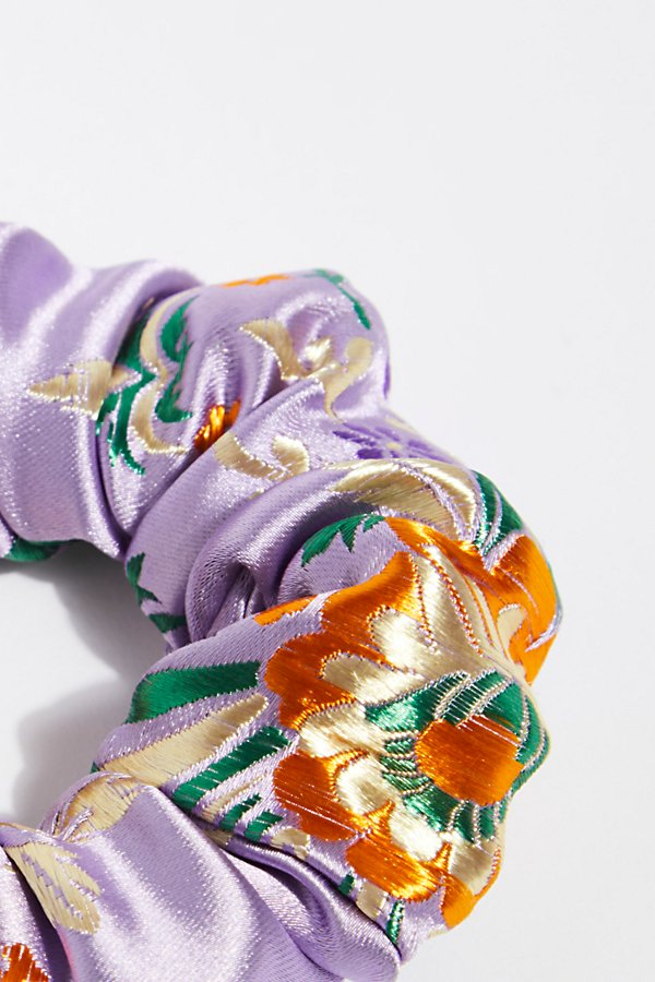 Slide View 2: Silk Brocade Scrunchie