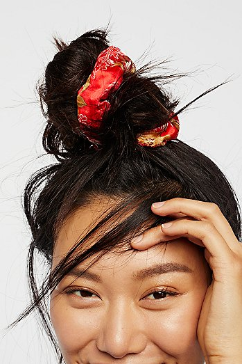 Silk Brocade Scrunchie