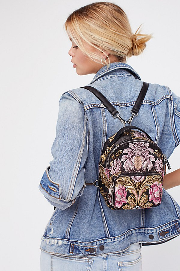 Brocade Floral Mini Backpack  4cd0f530fb96e