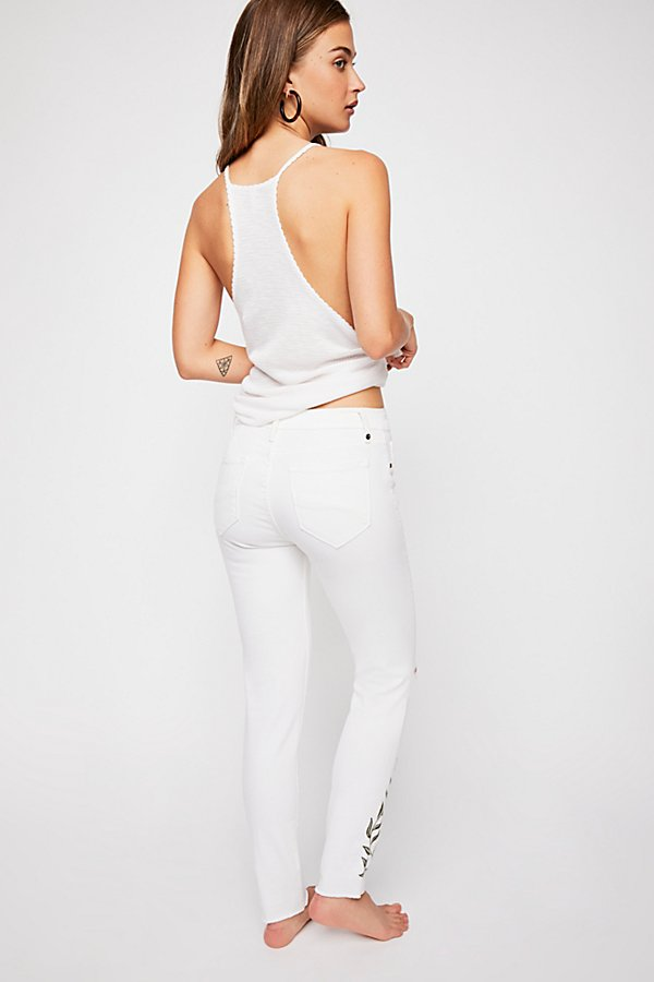 Slide View 3: Driftwood Jackie Embroidered Skinny Jeans