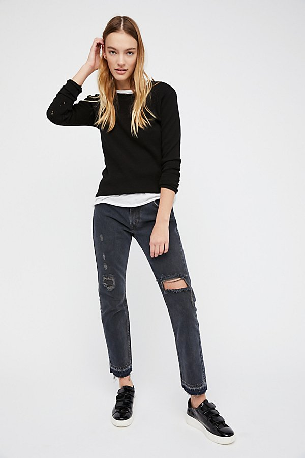 Slide View 1: Levi's 501c Distressed Crop Jeans