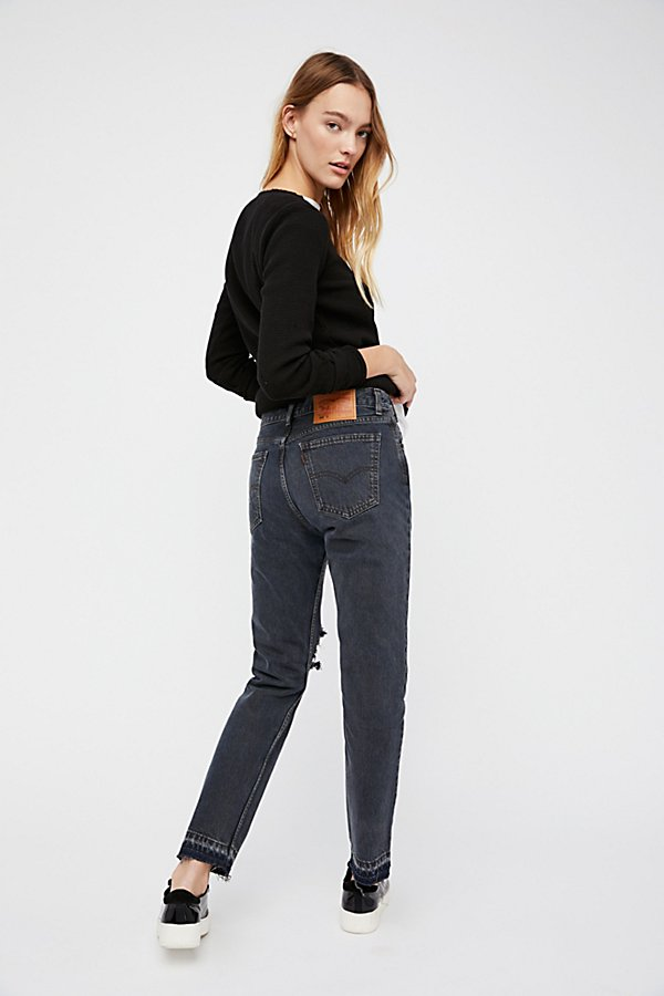 Slide View 2: Levi's 501c Distressed Crop Jeans