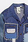 Thumbnail View 2: Vintage 1970s Patched and Studded Denim Jacket