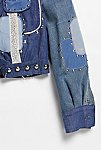 Thumbnail View 3: Vintage 1970s Patched and Studded Denim Jacket
