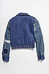 Thumbnail View 4: Vintage 1970s Patched and Studded Denim Jacket