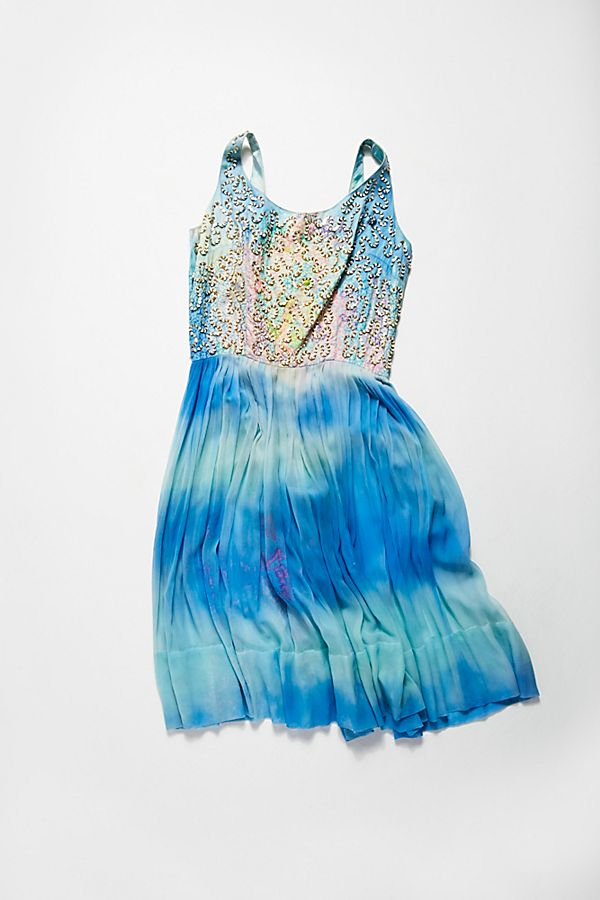 Vintage 1960s Tie Dyed Party Dress | Free People