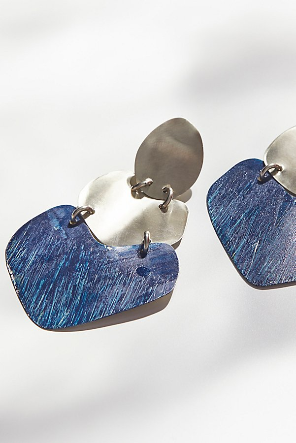 Slide View 2: Patina Plate Earrings