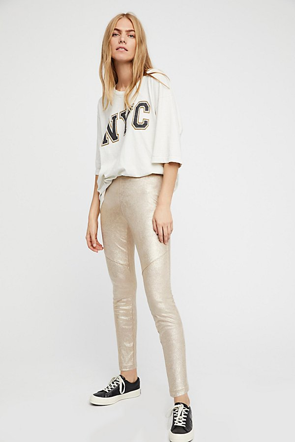 Slide View 1: Vegan Suede Legging