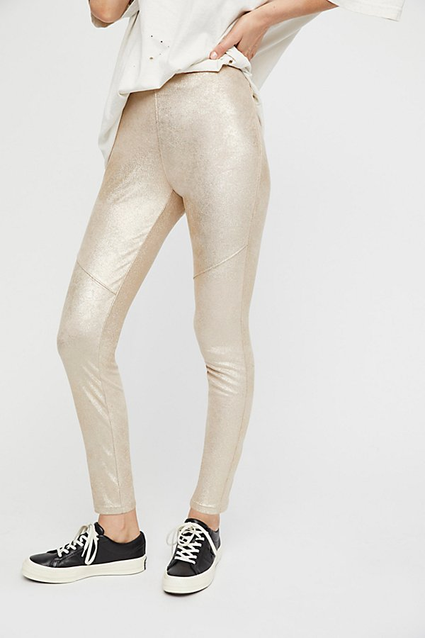 Slide View 3: Vegan Suede Legging