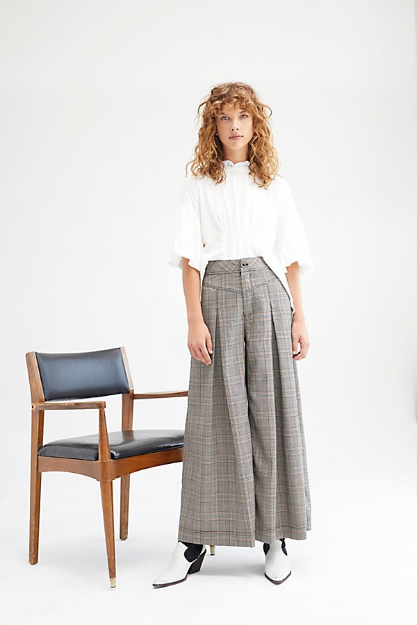 Extreme Tailored Wide-Leg Pants by Free People