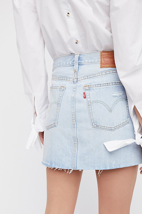 Slide View 4: Levi's Deconstructed Denim Skirt