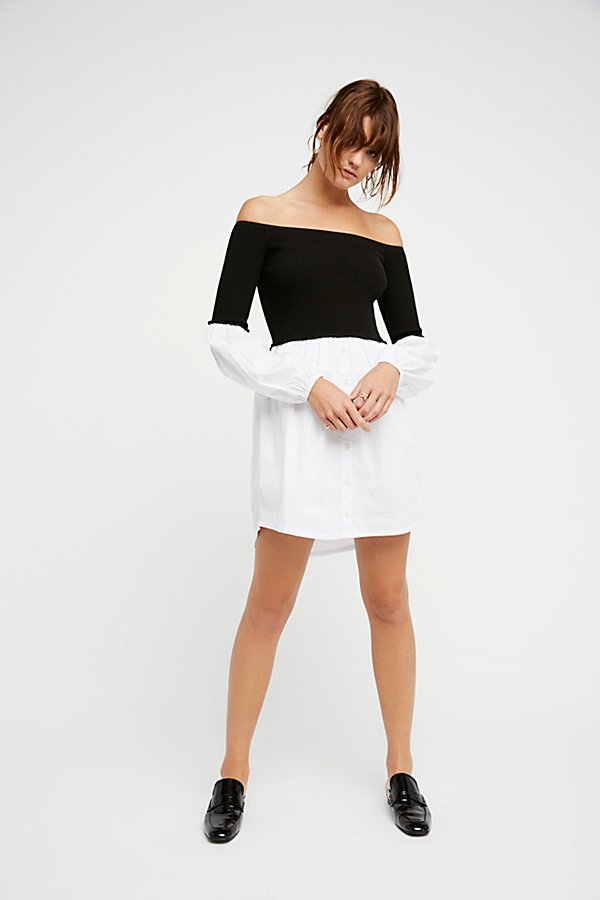 Slide View 5: Chunky Rib Jumper Mini Dress