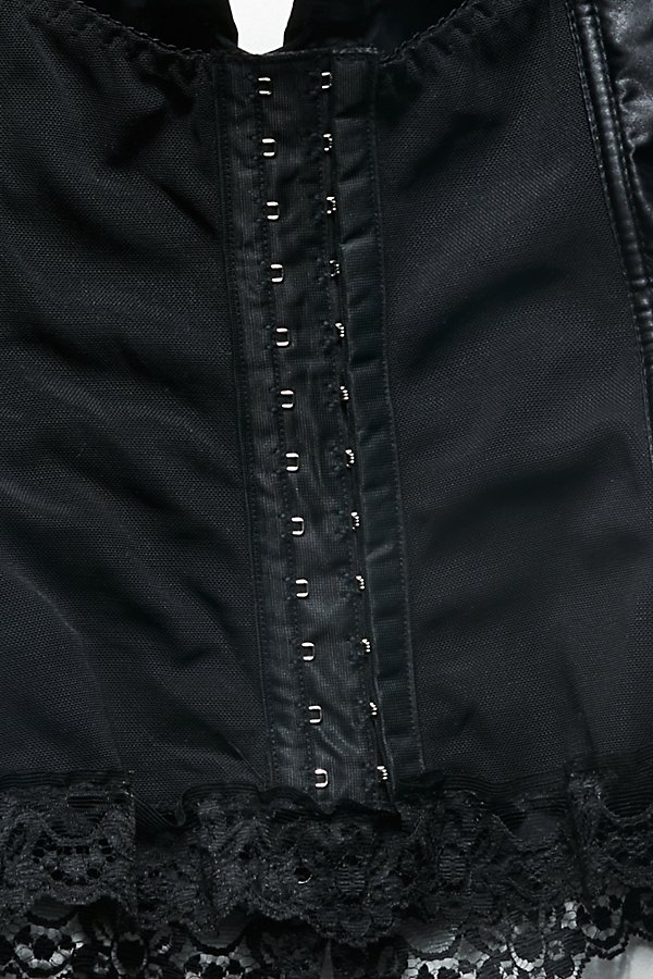 Slide View 5: Vintage 1980s Satin Corset