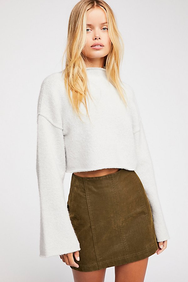 Slide View 1: Modern Femme Vegan Suede Mini Skirt