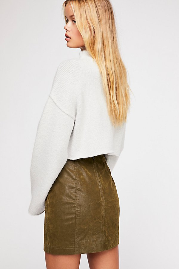 Slide View 2: Modern Femme Vegan Suede Mini Skirt