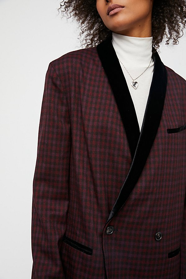 Slide View 3: Velvet Trimmed Blazer