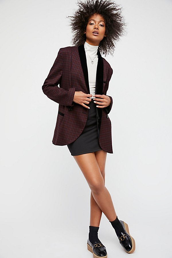 Slide View 4: Velvet Trimmed Blazer