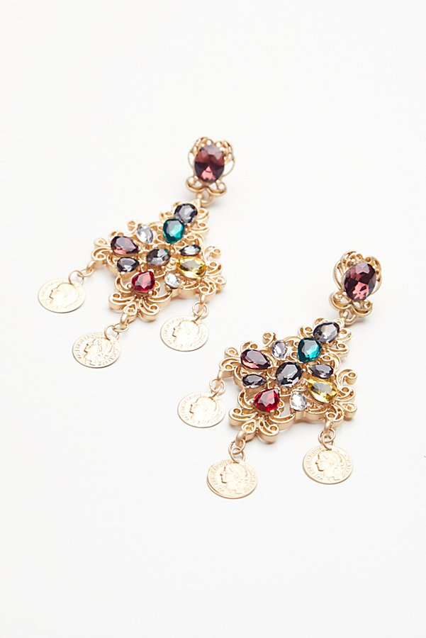 Slide View 3: Baroque Statement Earrings