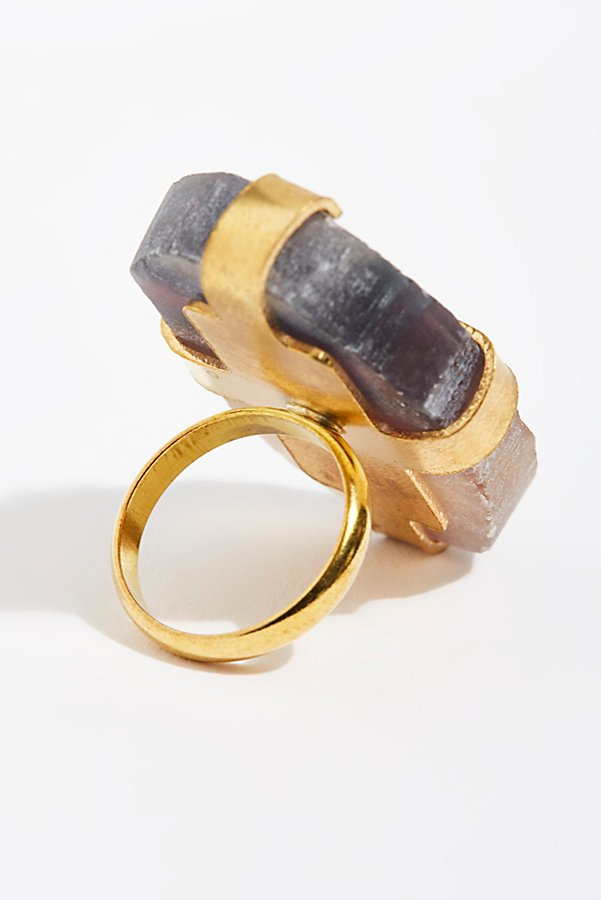Slide View 3: Large Raw Stone Ring