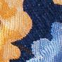 蓝色碎花锦纹