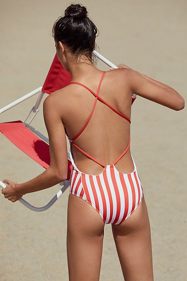 Slide View 2: Farrah One-Piece Striped Swimsuit