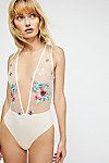 Thumbnail View 1: Embroidered Floral Bodysuit