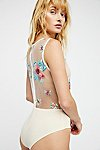 Thumbnail View 2: Embroidered Floral Bodysuit