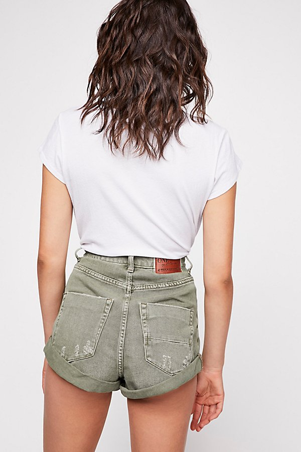 Slide View 2: OneTeaspoon High-Rise Bandit Denim Shorts