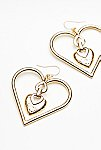 Thumbnail View 2: Heart To Heart Charm Earrings