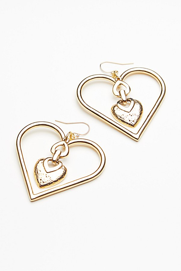 Slide View 3: Heart To Heart Charm Earrings