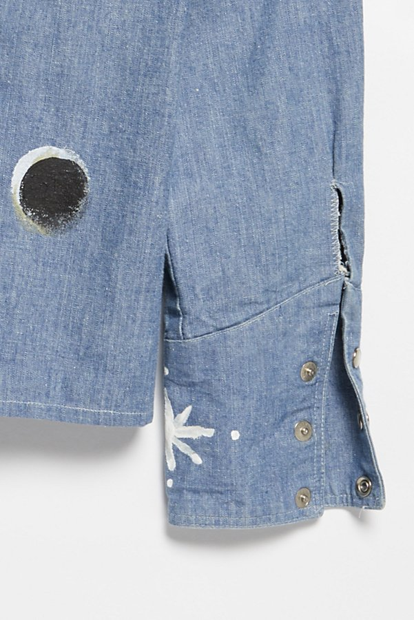 Slide View 3: Vintage 1970s Hand Painted Denim Buttondown