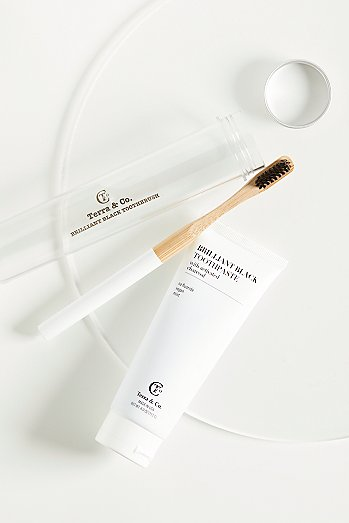 Terra & Co. Brilliant Black Toothpaste & Toothbrush