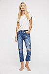 Thumbnail View 1: OneTeaspoon Hooligans Crop Flare Jeans