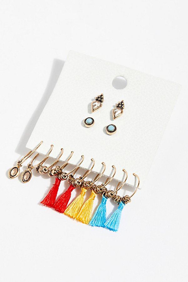 Slide View 1: Charming Hoop Earring Set