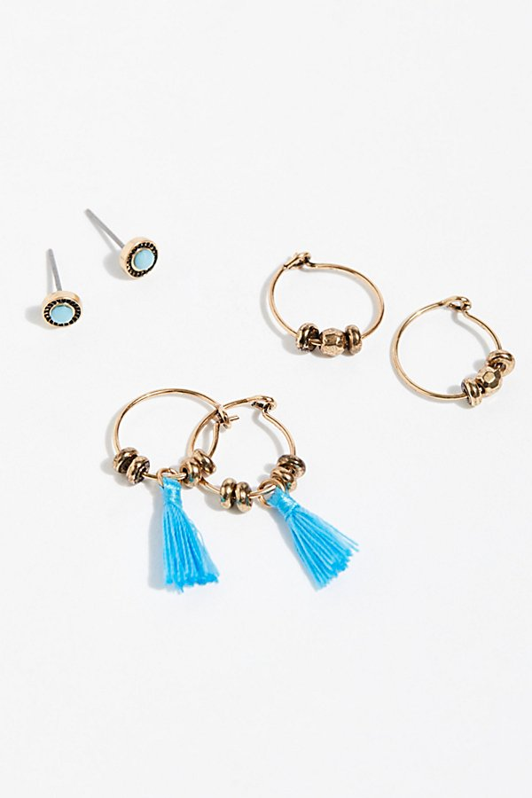 Slide View 2: Charming Hoop Earring Set