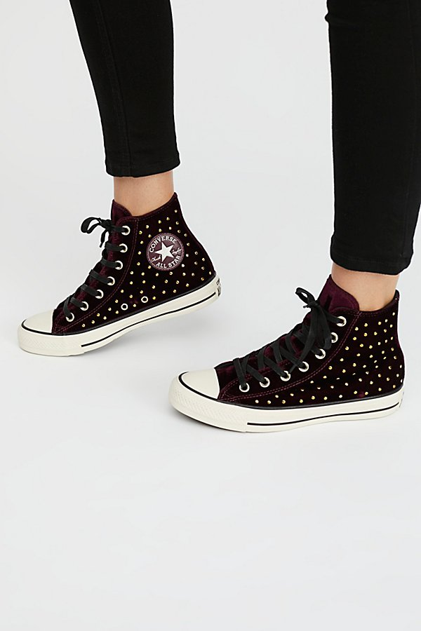 Slide View 2: Studded High Top Sneaker