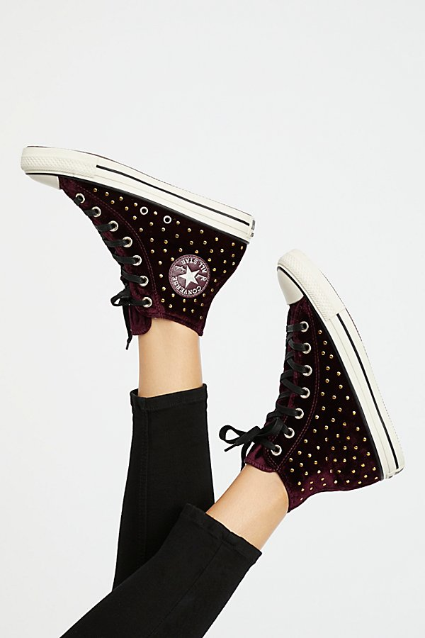 Slide View 1: Studded High Top Sneaker
