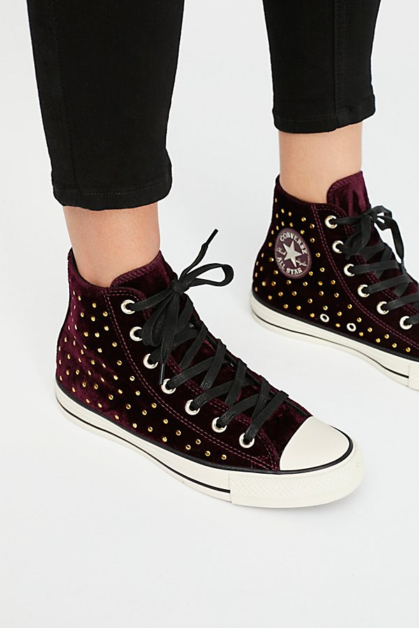 Slide View 3: Studded High Top Sneaker
