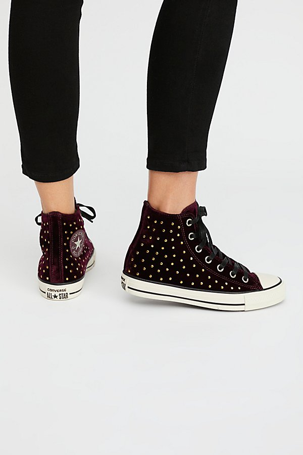 Slide View 4: Studded High Top Sneaker