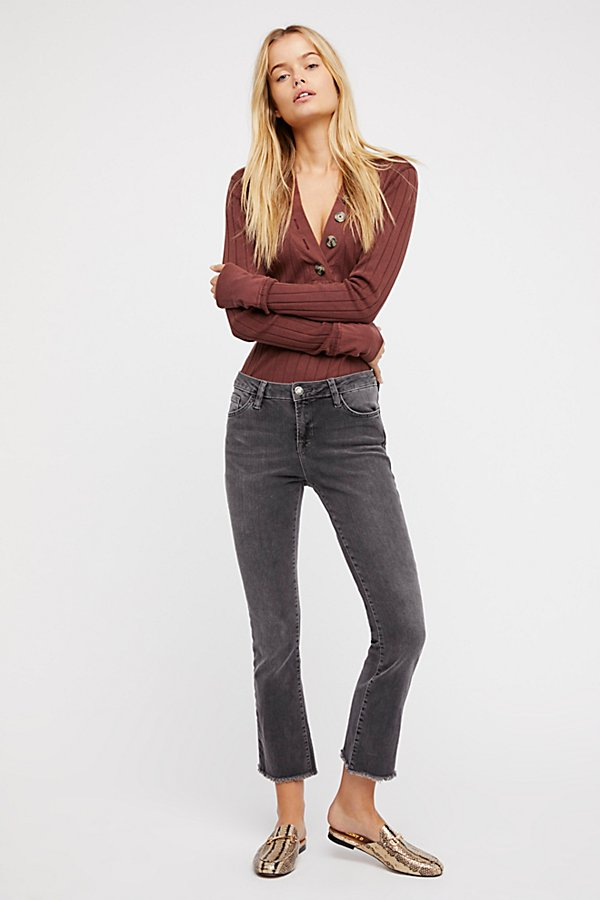 Slide View 1: Straight Crop Jeans