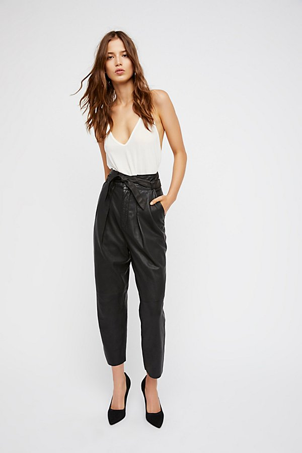 Slide View 2: Nightfall Cropped Leather Pants